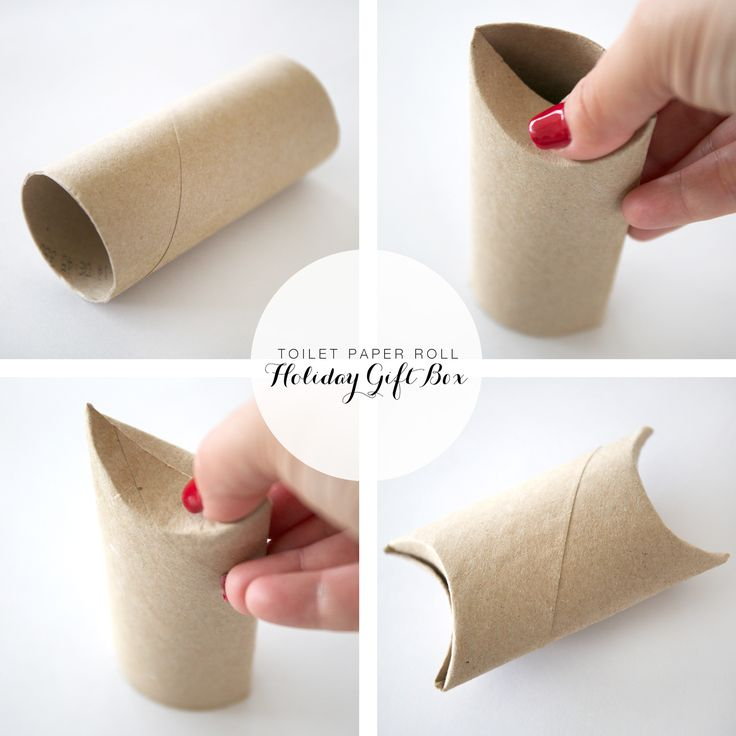 DIY Gift Boxes //  No scissors, glue, or tools required // Made out of toiled paper rolls (or paper towel rolls)!: