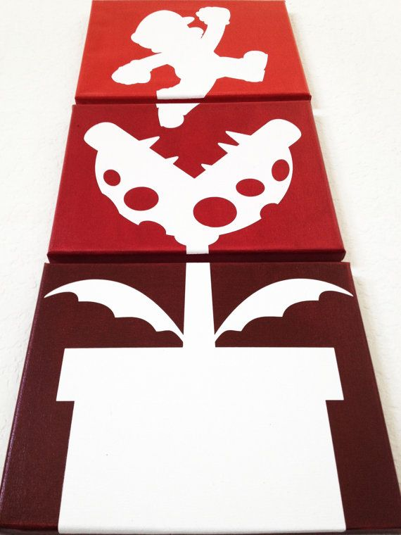 Mario Bros Ombre Canvas Art by adapperduck on Etsy