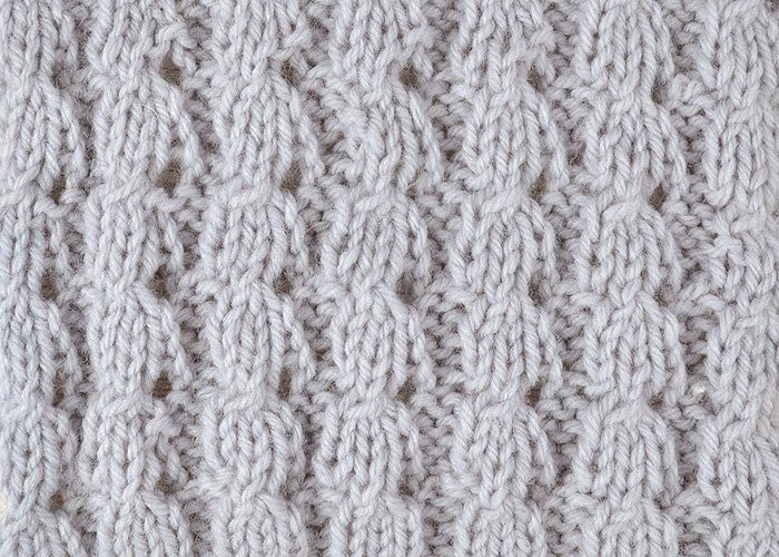 How to knit the beehive stitch - free tutorial Knit Stitch Pinterest Ho...