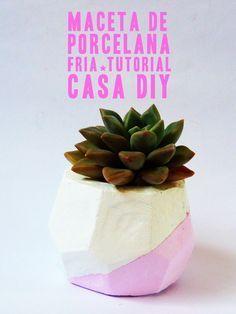 Maceta de porcelana fría Clay planter