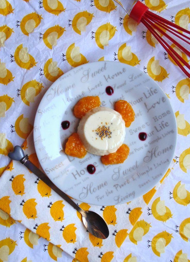 Horno obsesión: Panna cotta con puré de melocotón a la naranja
