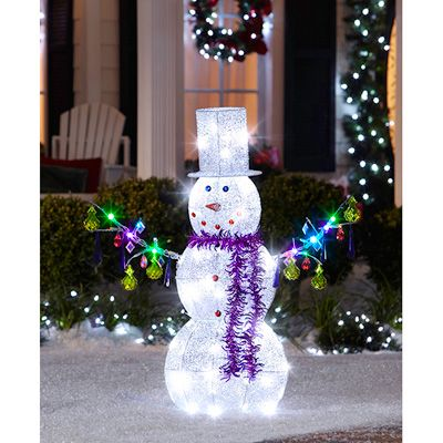 17 best images about lighted sculpter on pinterest for Animated snowman decoration