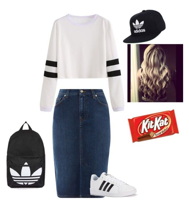 """Adida + Kitkat"" by ohraee019 on Polyvore featuring GANT, adidas and Topshop"