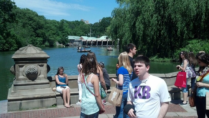 In Central Park at Bethesda Fountain.