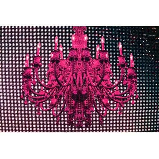 "Fluorescent Palace ""Paparazzi Playhouse Pink"" Canvas Art"