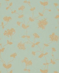 Tapet 57150: Honeysuckle Trail Aqua/Gold från Colefax & Fowler - Tapetorama