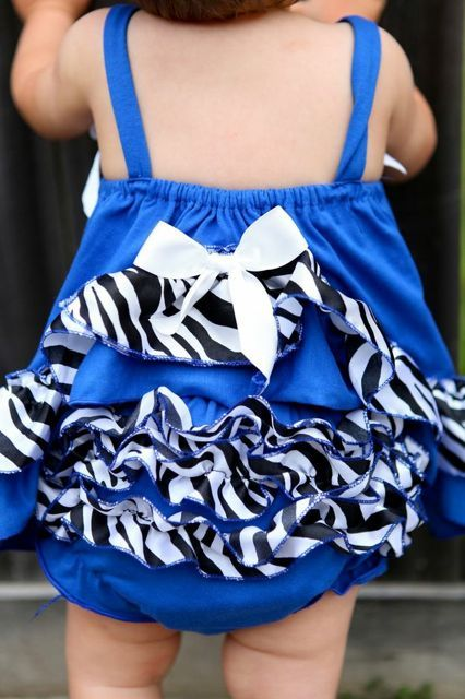 Blue Zebra Baby Swing Top with Bloomers, Baby top and Bloomer, Cute Baby outfit