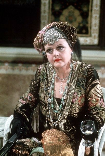 "Angela Lansbury as 'Salome Otterbourbe' from ""Death on the Nile"" (1978)"