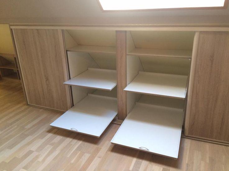 17 best ideas about porte coulissante sous pente on. Black Bedroom Furniture Sets. Home Design Ideas