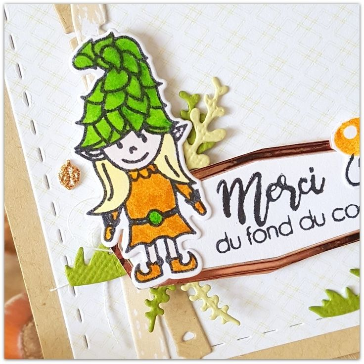 """Béa : Tampons et matrices de coupe (dies) #4enSCRAP """"Une journée magique"""""""