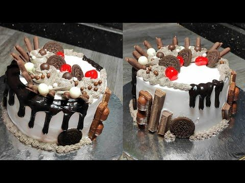ابسط تورتة ممكن تتعمل للمبتدئين تزيينها سهل جدا Youtube Desserts Birthday Cake Cake