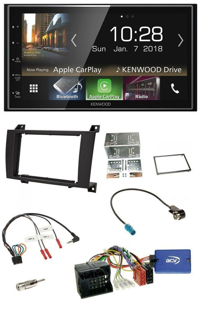 Kenwood 2din Mp3 Lenkrad Usb Bluetooth Autoradio Fur Mercedes Slk R171 08 11 Apple Car Play Car Radio Gps