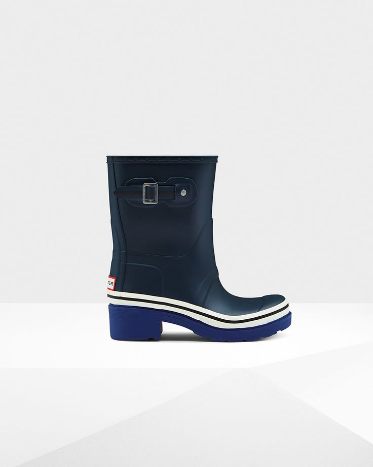 A new, nautical, ankle boot in natural rubber.