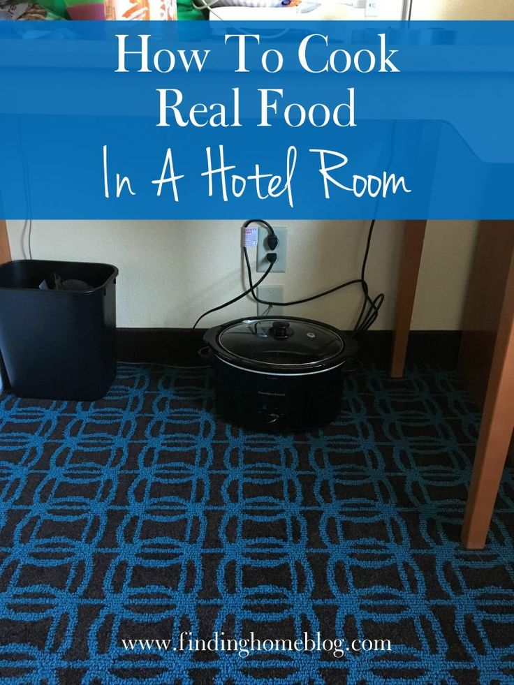 How To Cook Real Food In A Hotel Room: It's not as hard as you might think!  A little prep work ahead of time and you can eat well, save money, and enjoy the meals you DO go out for.