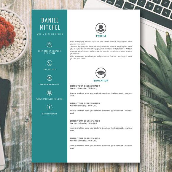 RESUME - CV  by AvenueDesigns on @creativemarket