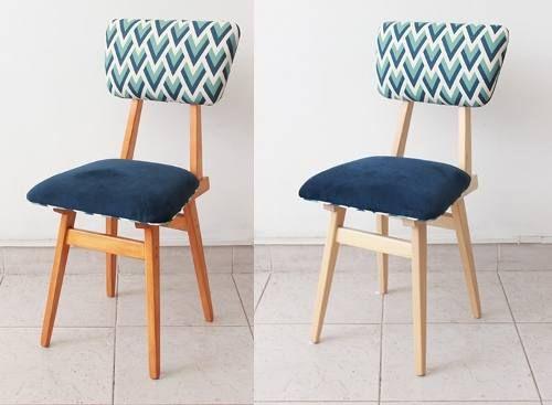 sillas americanas de estructura nueva guatambu retro vintage