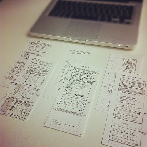 Sketching is thinking #design #mockups #paper #sketching #ux