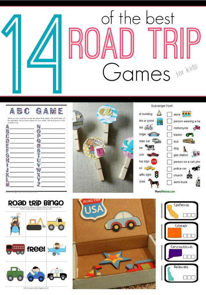 Make your Road trips more fun for the kids with these 14 Road Trip Games #ad #vacagonecraycray