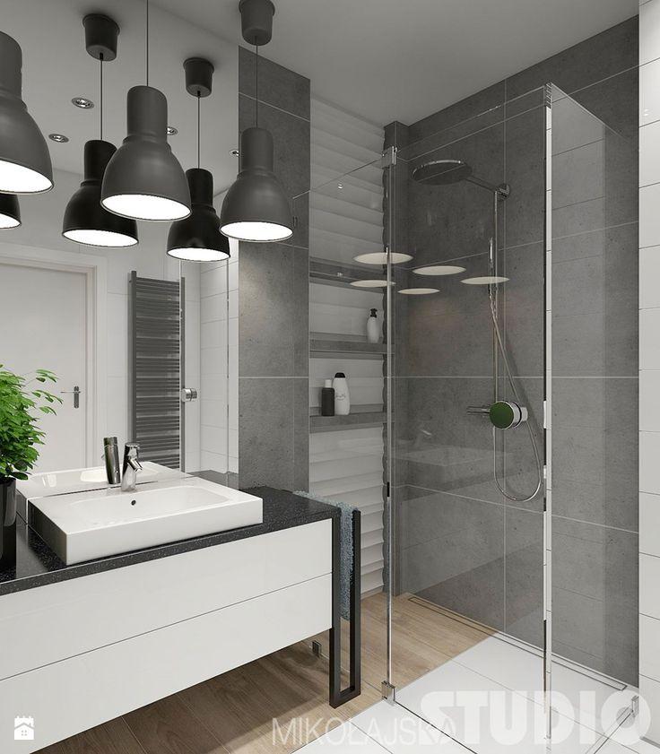 Znalezione obrazy dla zapytania małe łazienki w stylu skandynawskim