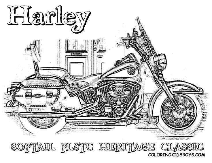 Free Harley Davidson Motocycle Coloring Pages | Harley ...
