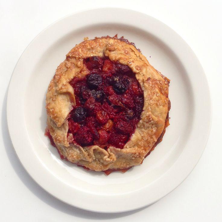 Cherry Raspberry Galette