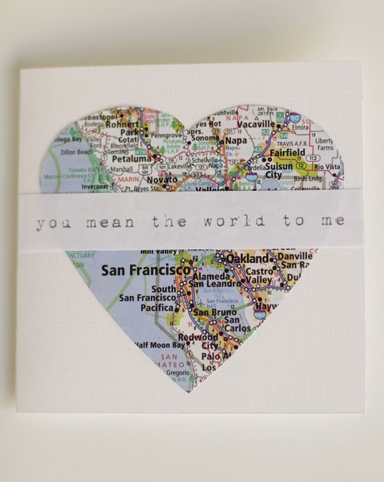 You mean the world to me... Cute homemade card