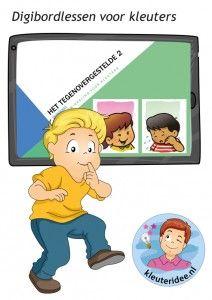 Digibordlessen voor kleuters op het digibord, computer of tablet, ga voor de spellen naar kleuteridee