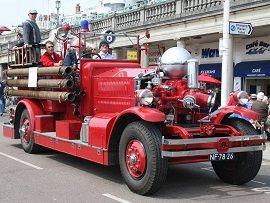 """De Ahrens-Fox A6 in beheer van Roteb Lease reed mee bij een evenement in Engeland, de """"London To Brighton"""" reünie op 1 mei 2011."""