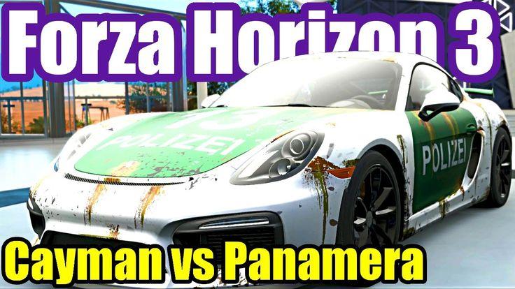 Porsche Cayman GT4 vs Panamera Turbo - Forza Horizon 3 Porsche Car Pack DLC