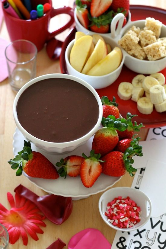 Easy Chocolate Dip for Valentine's Day