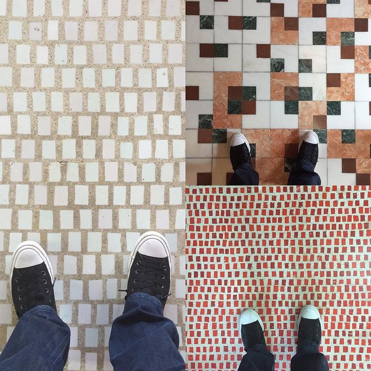 Who doesn't like a Carlo Scarpa mosaic floor....I think my feet do!  #olivetti #carloscarpa #design #venice #tile #mosaictile by modaldesign