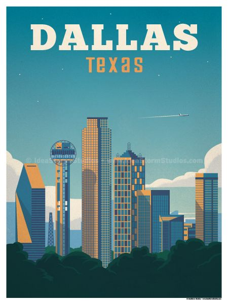 Dallas poster by IdeaStorm Studios ©2016. Available for sale at ideastorm.bigcartel.com