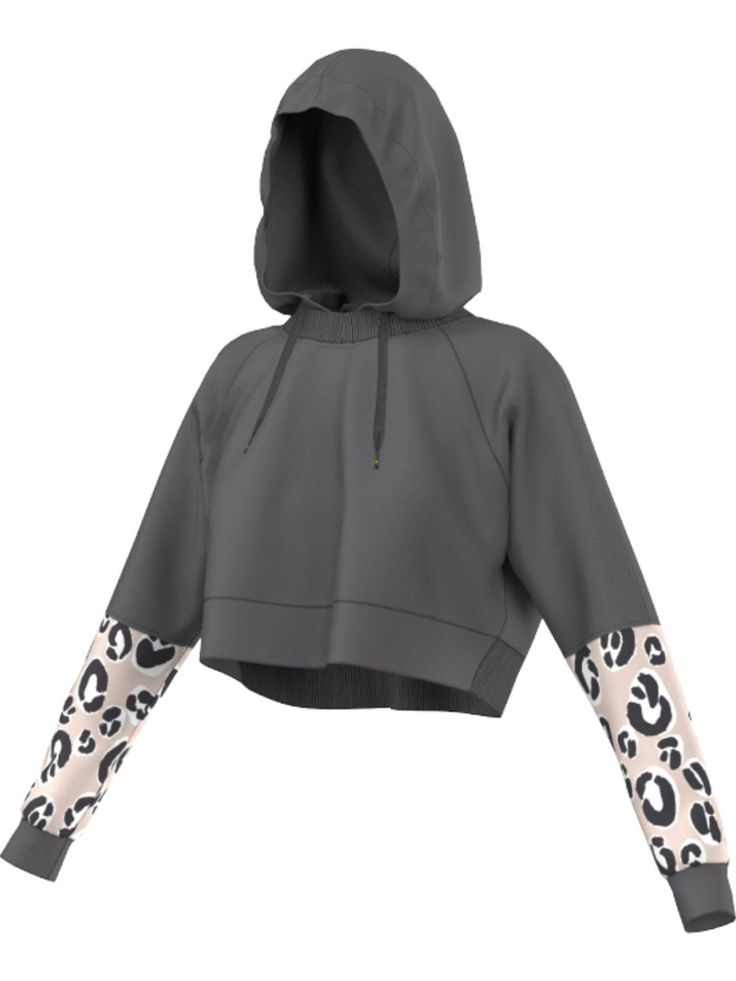 adidas StellaSport Leo Hooded Top - GraniteDesigned in collaboration with Stella McCartney, theLeo hooded top by adidas StellaSportfeatures athletic inspiration with a stylish spin, making it gym appropriate as well as a chic part of your off-duty wardrobe.Working AW15's love of exotic animal prints into your outfit, this hoodie features leopard print sleeve panels to give your urban looks some edge and attitude, while the loose cropped fit keep your style feminine. Made using soft French…