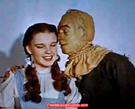 Judy Garland as Dorothy- with Ray Bolger as Scarecrow