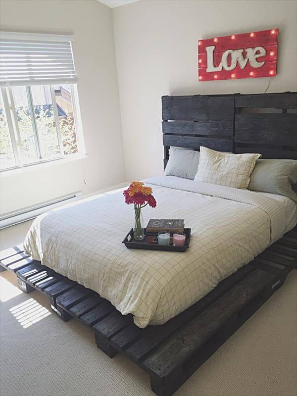 best 25 pallet platform bed ideas on pinterest diy bed. Black Bedroom Furniture Sets. Home Design Ideas