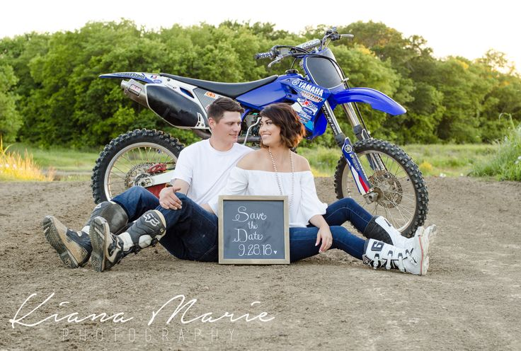 Couple shot with dirt bike in the back ground. #Motocross #EngagementRing #Engagement #Engaged #Love #Wedding #WeddingRing #Couple #Dirtbike #MotocrossEngagement #MotocrossWedding #Diamond #Photography #WeddingPhotography #TexasPhotography #TexasWedding #TexasEngagement #Sunset #Romantic #TexasSpring #Spring #Landscape #LandscapePhotography #Trees #SpringSunset #TexasSunSet #TexasSky