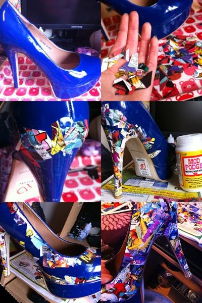 Comic pumps!: Ideas, Diy Comic, Comic Book Shoes, Comic Books, Women Shoes, Comicbook, Comic Shoes, High Heels, Comic Strips