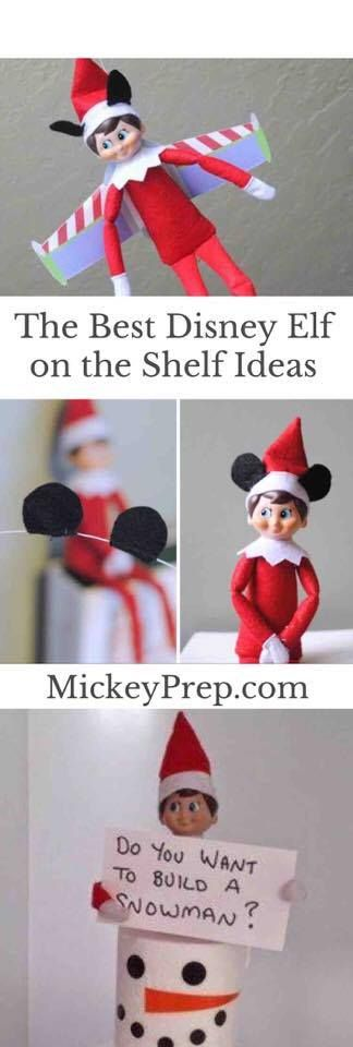 My top 10 Disney Elf on the Shelf ideas for the Holiday season! Elsa, Olaf, Baymax, Mickey, Buzz Lightyear and more! Tips and Tricks for Disney.