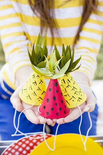 DIY Mini Watermelon Party Hats