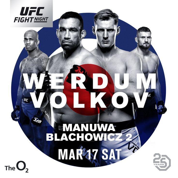 UFC Fight Night 127: Werdum vs Volkov – wyniki walk | FIGHT24.PL - MMA i K-1, UFC