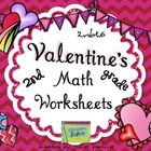 These worksheets, with a cute Valentine theme, will help your students practice skills in adding 4 two-digit numbers.  Exactly what is needed for m...