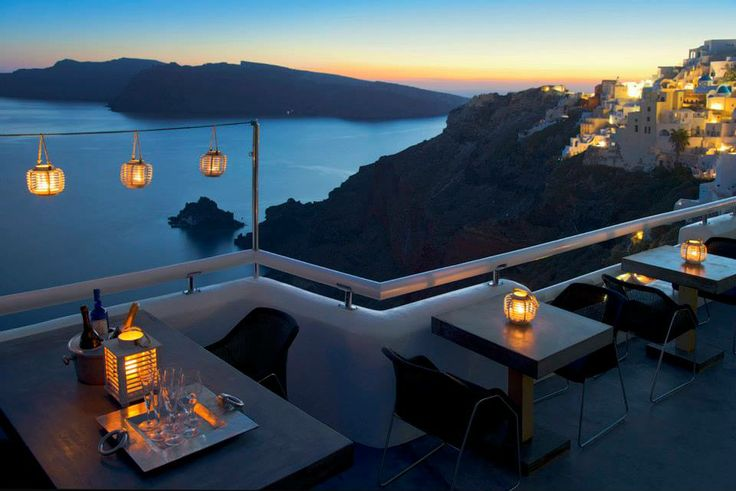 Utterly romantic view from the bar at Aspaki Luxury Suites.