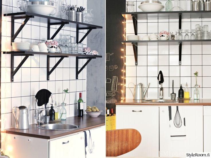 avohyllyt,pintaremontti,laatoitus,keittiö,keittiön välitila