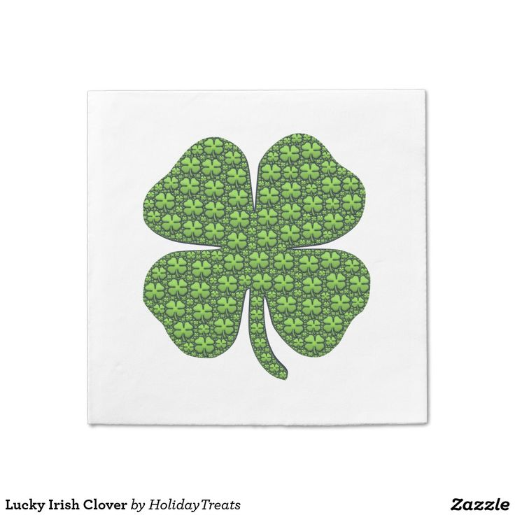 Lucky Irish Clover Standard Cocktail Napkin