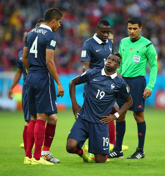Paul Pogba of France reacts after a foul during the 2014 FIFA World Cup Brazil Group E match between France and Honduras at Estadio Beira-Rio on June 15, 2014 in Porto Alegre, Brazil.
