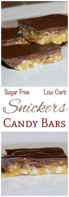 This sugar free low carb keto Snickers bar recipe makes a delicious sweet candy treat that can be enjoyed without guilt. Layering in a baking pan makes it quick and easy.