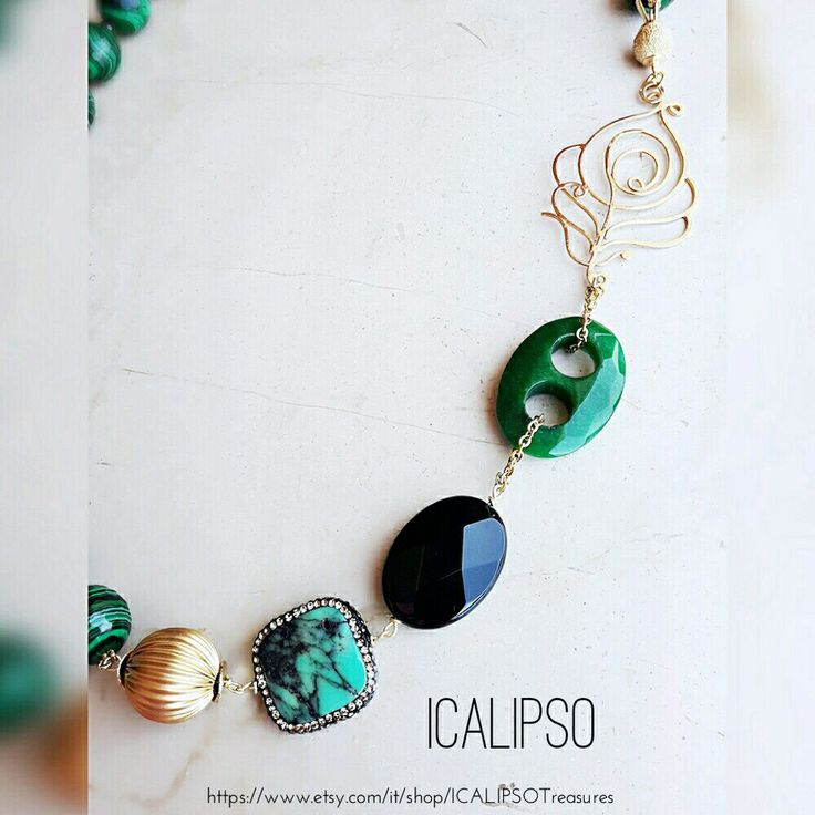 Gorgeous green necklace for women now available on etsy!!