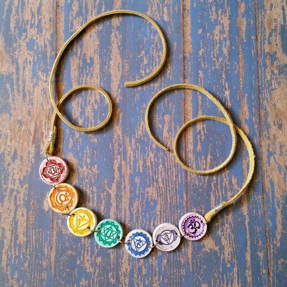 Chakra Symbols Link Choker Necklace by HipHippieHooray on Etsy