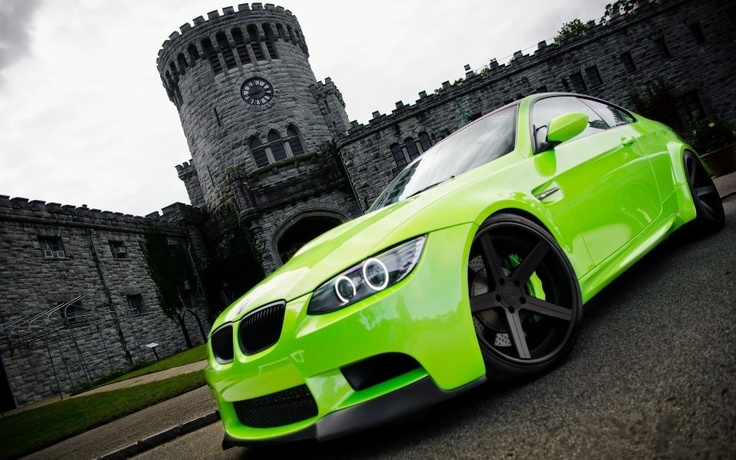 Luminescent Green BMW M3 - Brittany M- I thought of you when I saw this color!: Rides, Sweet, Color, Green Bmw, Dream Cars, Auto, Lime Green, Bmw M3, Photo