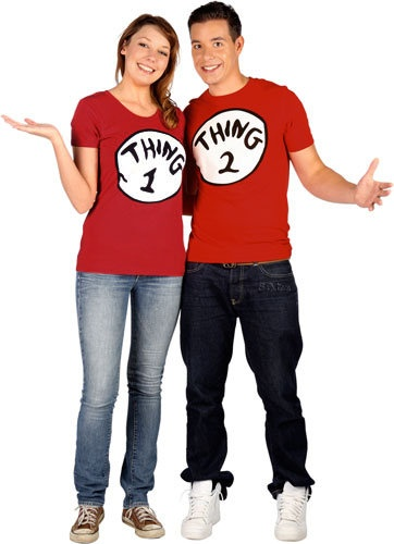 A bit easy, but Thing 1 and Thing 2 from Dr. Suess! #Couples